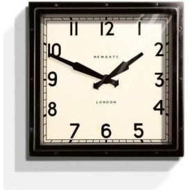 Newgate Quad Black Wall Clock