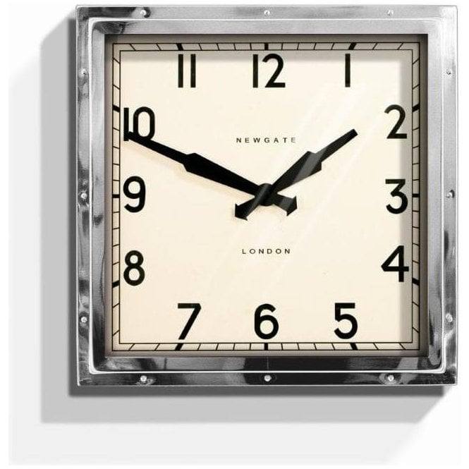 Newgate Quad Chrome Wall Clock