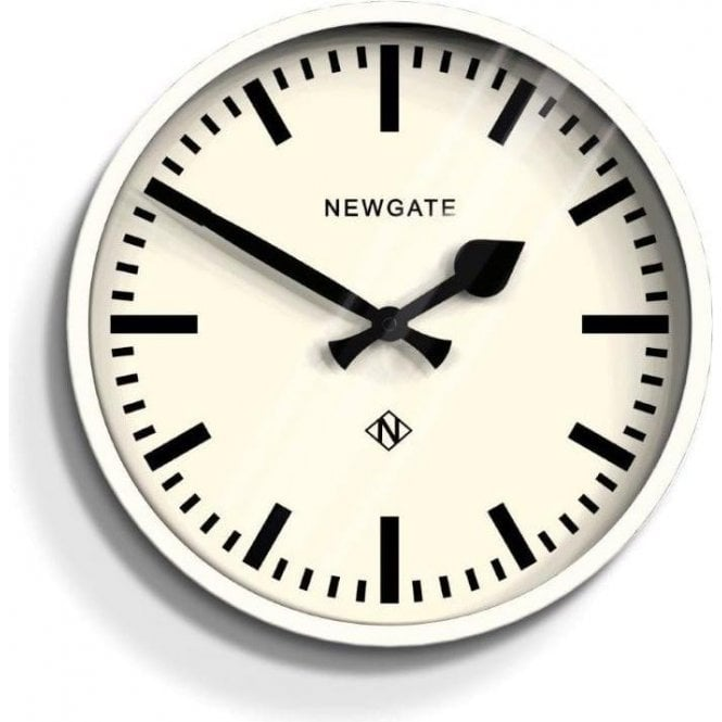 Newgate The Luggage Linen White Wall Clock
