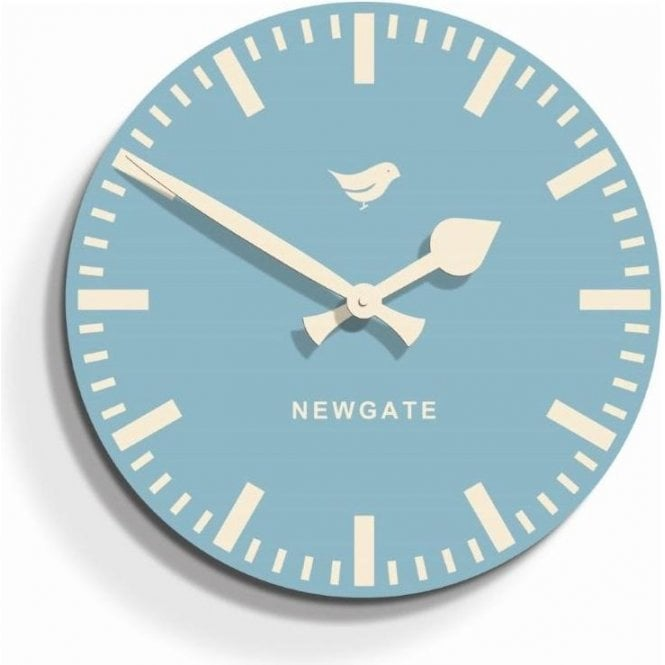 Newgate Train Light Blue Wall Clock by Home of the Sofa