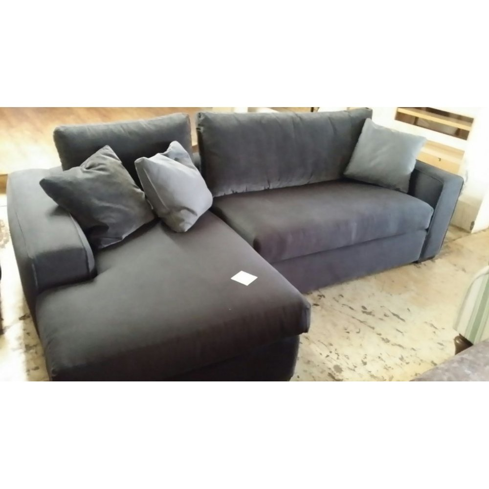 rochester grey corner sofa with chaise p542