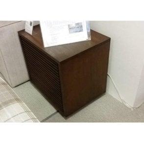 Solid Oak Slatted Single Door Side Table