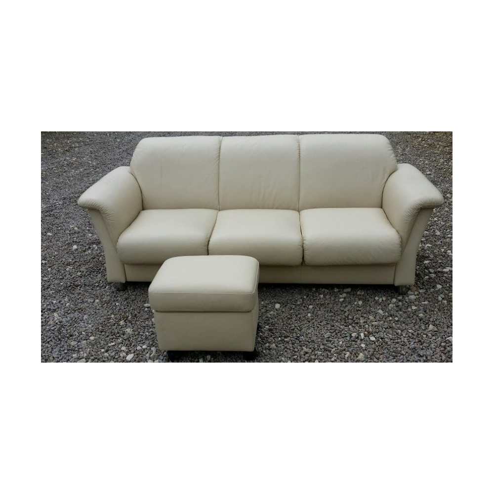 ekornes stressless e40 3 seater leather sofa by home of the sofa