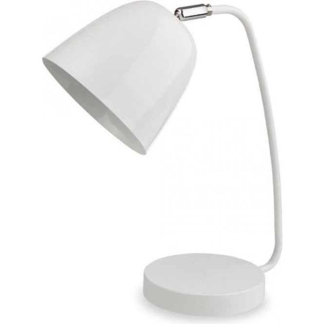 White Table Lamp With Adjustable Shade